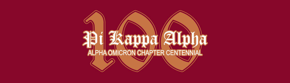 Alpha omicron chapter of pi kappa alphacentennial celebration alpha omicron chapter of pi kappa alphacentennial celebration voltagebd Gallery